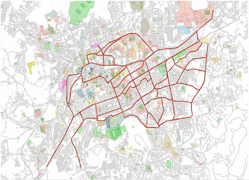 Mapa - proposta para rede ciclável