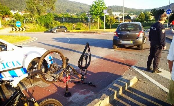 Condutor distraído atropelou ciclista na ciclovia de Lamaçães