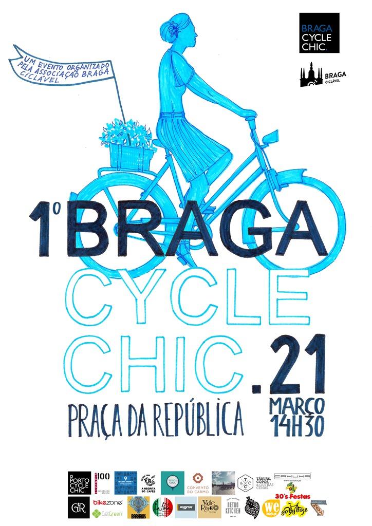 Cartaz 1º Braga Cycle Chic
