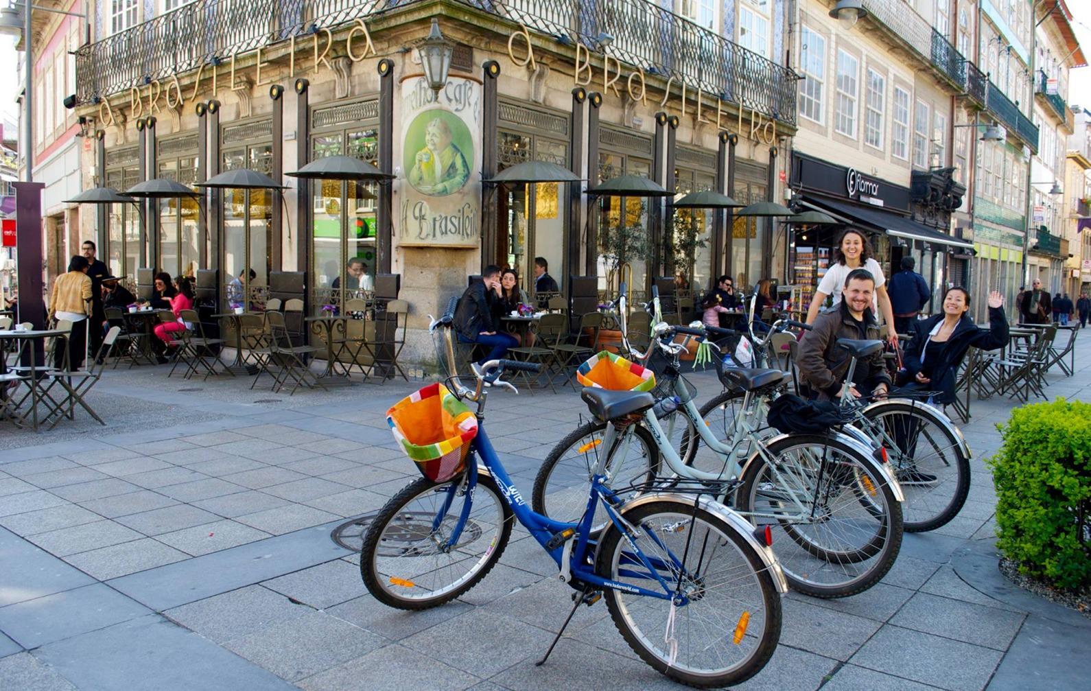 Bicicletas no centro de Braga