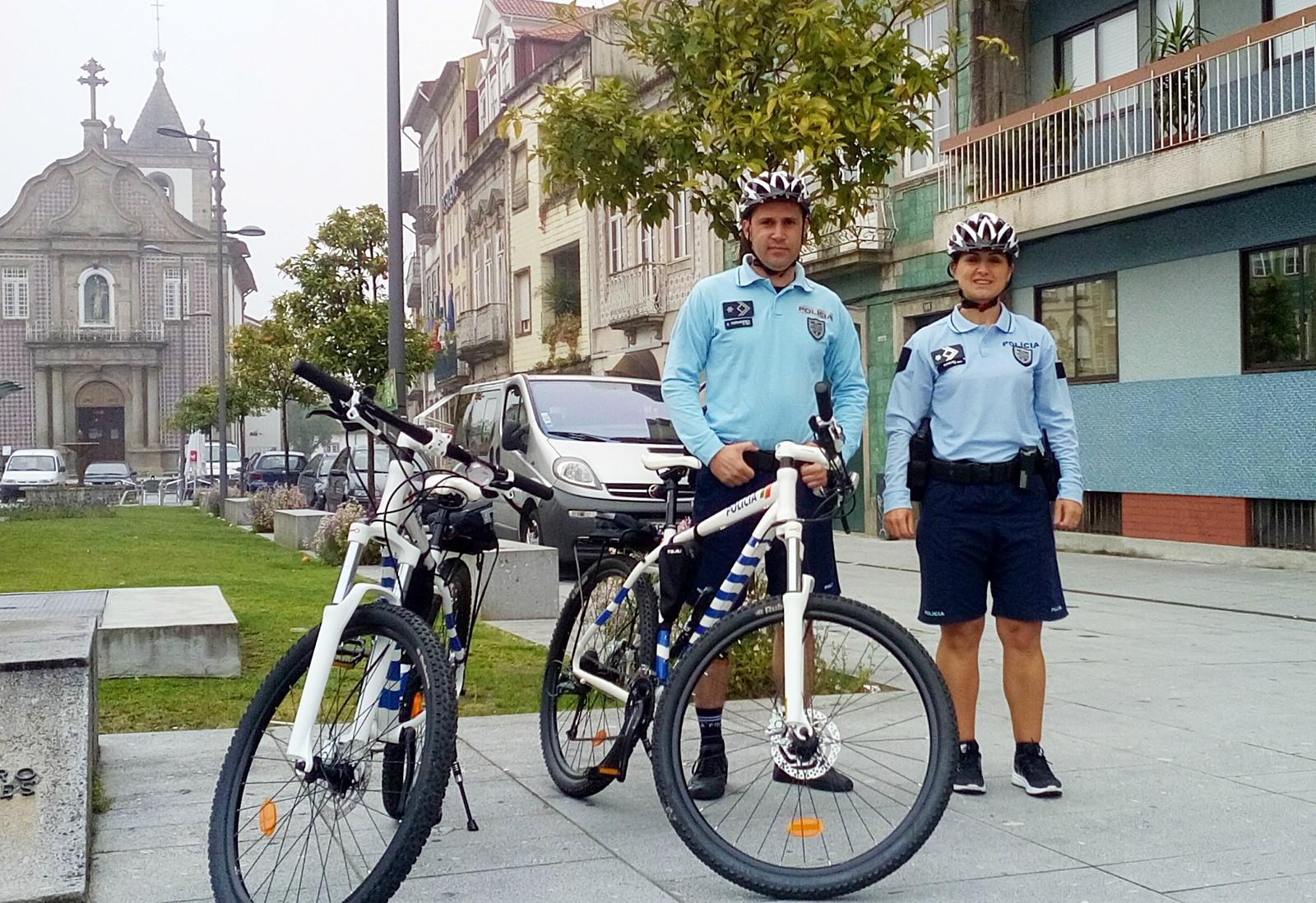 PSP de bicicleta - ciclopatrulha em Braga 2016