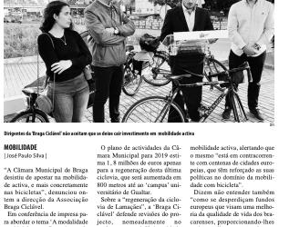 """""""Braga Ciclável acusa Câmara de desistir das bicicletas"""""""