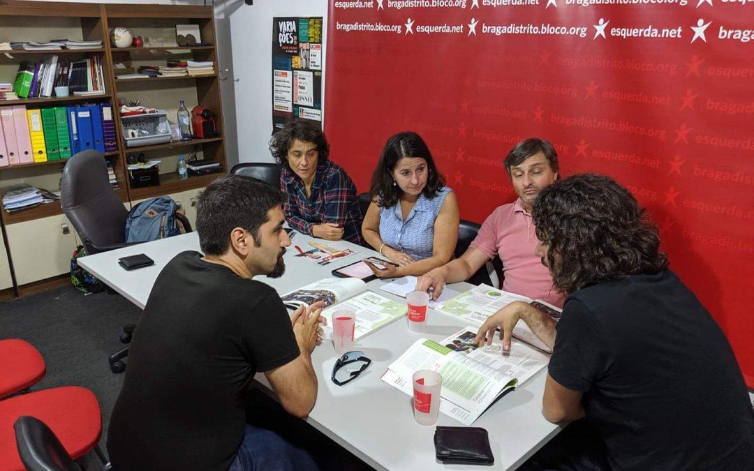 Braga Ciclável reuniu com candidatos a deputados do BE