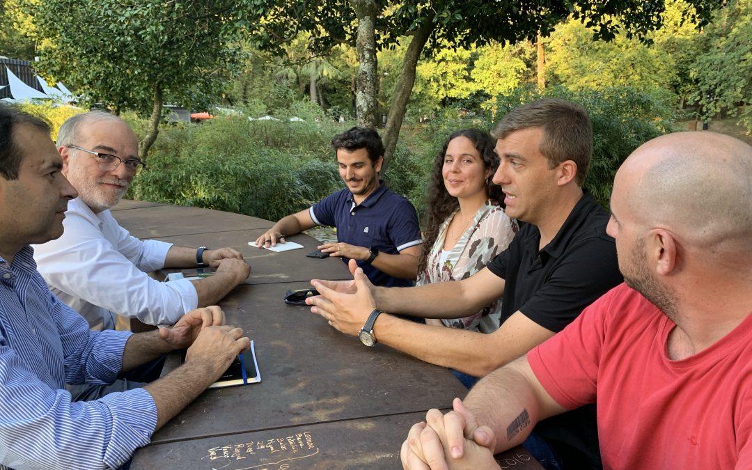 Reunião entre a Braga Ciclável com oscandidatos do Partido Aliança, na lista pelo circulo eleitoral de Braga