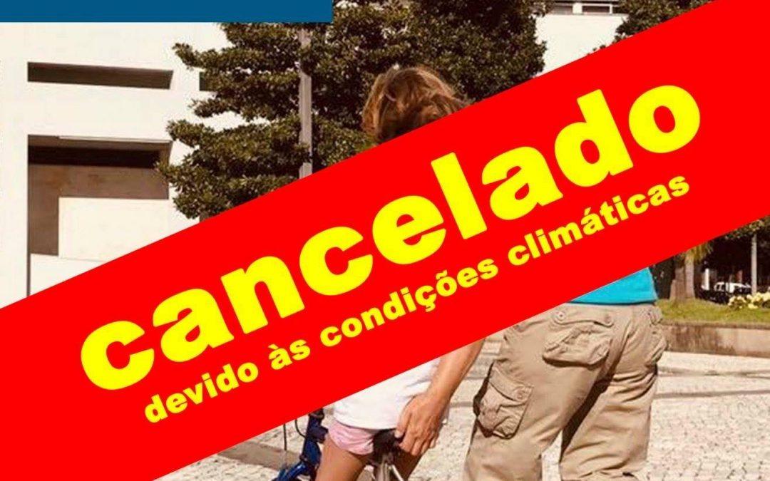 Cancelamento das aulas de iniciação de bicicleta e cicloficinas, de dia 2 de novembro.