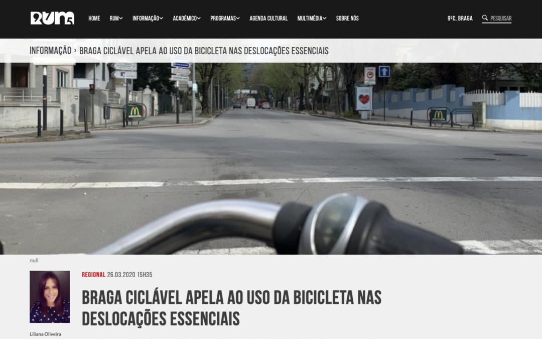 Braga Ciclável apela ao uso da bicicleta nas deslocações essenciais